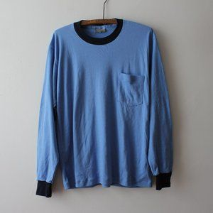 Blue Long Sleeve Shirt Made in Canada